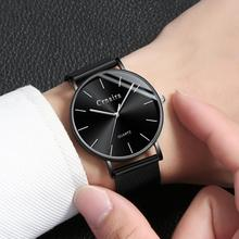 купить Ultra Thin Man Wrist Watch 2019 Men's Watches Luxury Brand Male Clock Business Quartz Wristwatch Watch For Men Relogio Masculino по цене 830.92 рублей