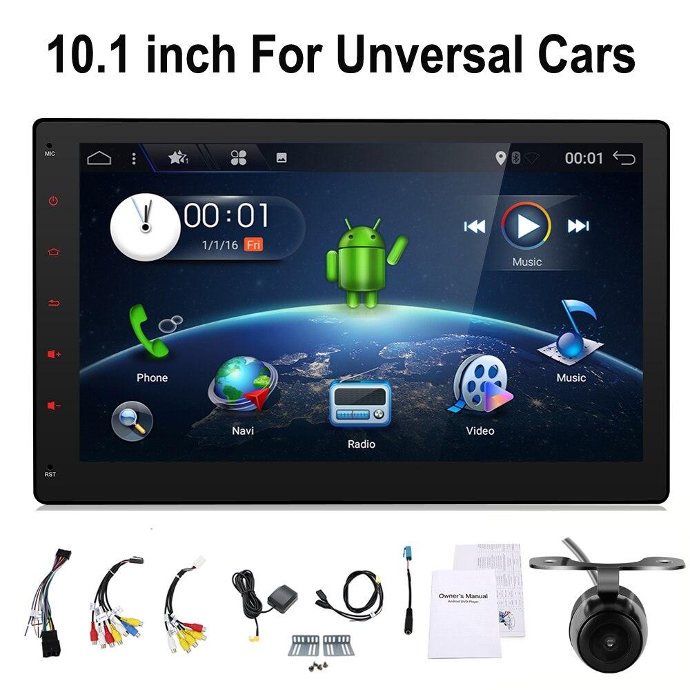 2din 10.1 pouce Android 7.1 3g Wifi autoradio GPS Navigation 2 din Voiture Stéréo Radio Voiture GPS Bluetooth USB/SD Universal Player