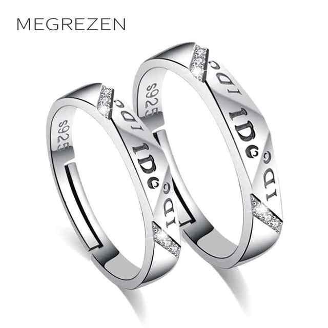 cc05e3fb9d86 Parejas anillo de bodas con piedra plata anillos emparejados Set regalo para  las mujeres hombres accesorios de moda Dropshiping 2018 G81-5