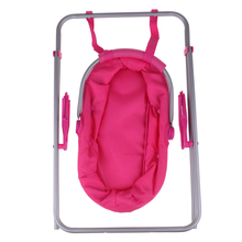 Reborn Doll Supplies Baby Carrier – Simulation Cradle Swing Playset – for Baby Doll for MellChan Doll Accessory