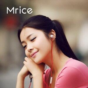 Image 5 - Mrice E100 Universal น้ำหนักเบาหูฟังสเตอริโอหูฟังคุณภาพสูงชุดหูฟังสีแดงสามเหลี่ยม Tangle Free CABLE
