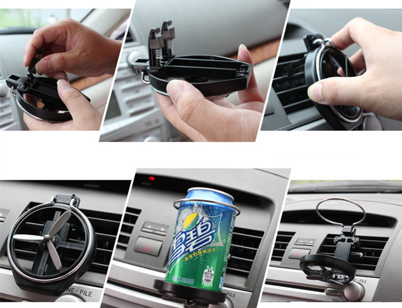 Car Air Outlet Drink Holder Car Case Water Cup Holder Car Drink Holder With Small Fan Auto Universal Interior Accessories 3