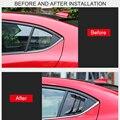 Для Mazda 3 M3 Axela 2014-2018 автомобильные аксессуары боковое заднее окно затвор украшение накладка автомобильные аксессуары