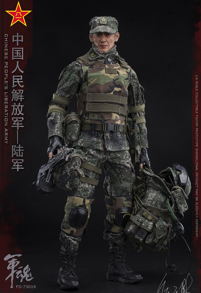 1/6 Scale Chiese People's Liberation Army Soul-Series Army Machine Gunner Military Solider Action Figure Full doll collection 3