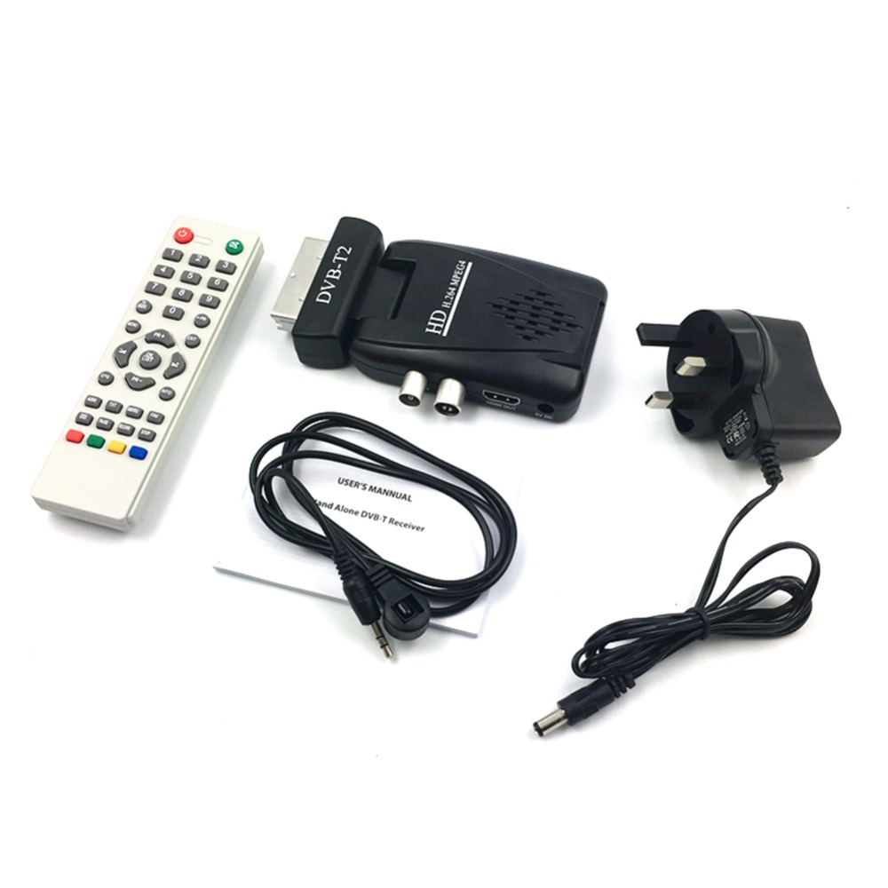 High Definition Digital MPEG 4 SCART DVB T2 H 264 1080P HD SCART Terrestrial Receiver TV