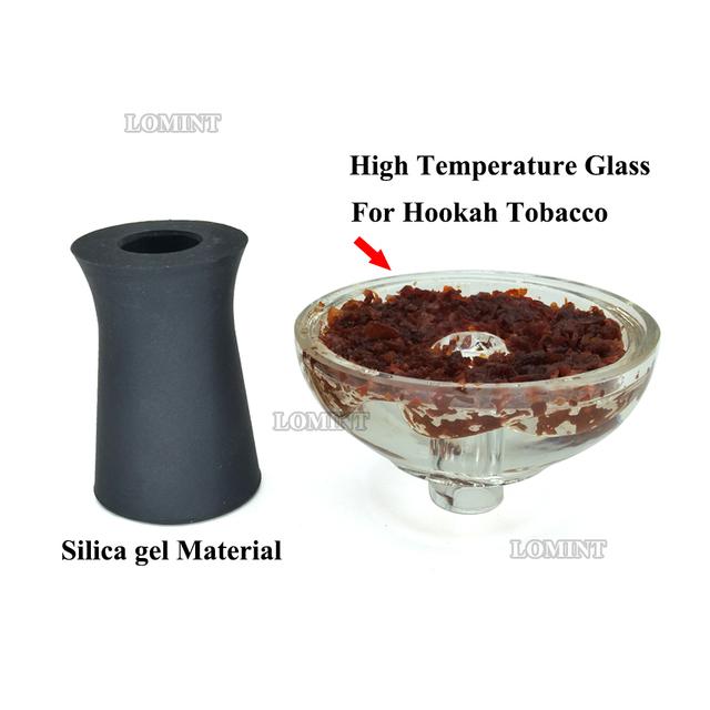 LOMINT Vortex High-temperature Resistant Glass Hookah Bowl Shisha Tobacco Bowl Chicha Narguile DIY Accessories For Kaloud lotus