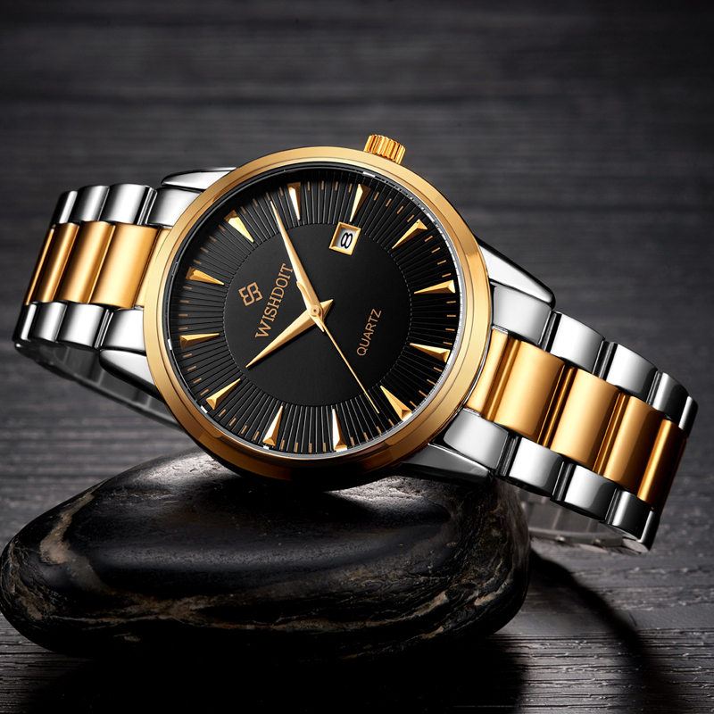 hannah clock luxury auto waterproof men watches steel item fashion watch stainless s date martin