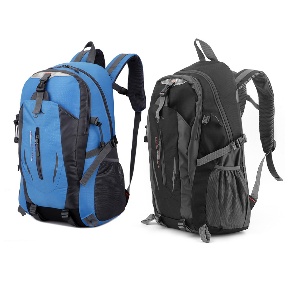 1 Pc Bag 40L Outdoor Mountaineering Bags Water Repellent Shoulder Bag Men And Women Travel Hiking Camping Backpack