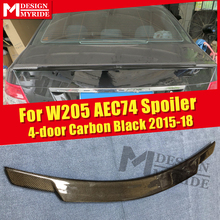 W205 Carbon fiber Trunk spoiler wing C74 style Fits For MercedesMB C class C250 C300 C400 C63 look wing rear spoiler 2015-18 w205 c63amg carbon fiber trunk spoiler wing c74 style fits for mercedesmb c class 2 door c180 c200 c250 wing rear spoiler 15 18