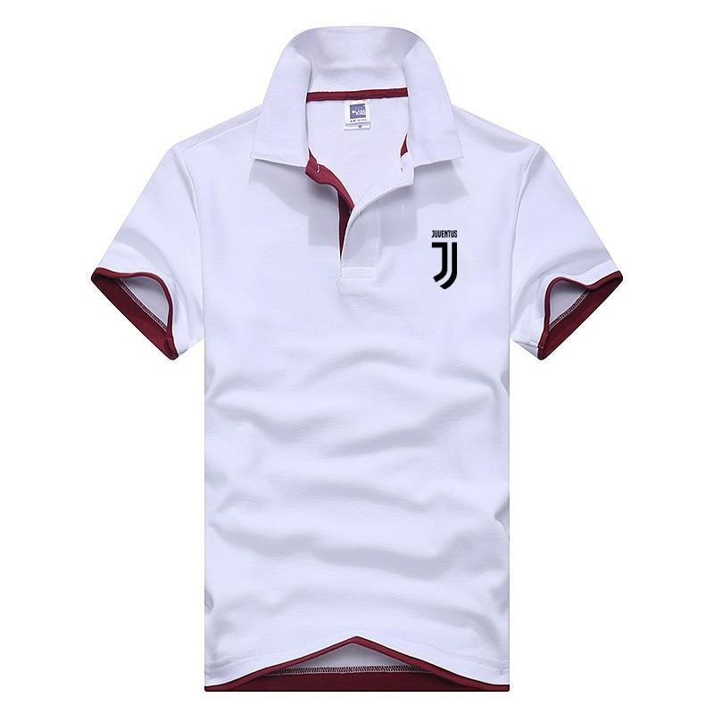 8607b214 Business Polo Shirt Men Juventus Brand Clothing Male Print Polo Shirt Solid  Casual Polo Tee Shirt