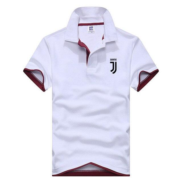 Negocios Polo camisa hombre Juventus ropa de marca hombre impresión camisa  de Polo camiseta Tops Aeronautica 87ef570eab017