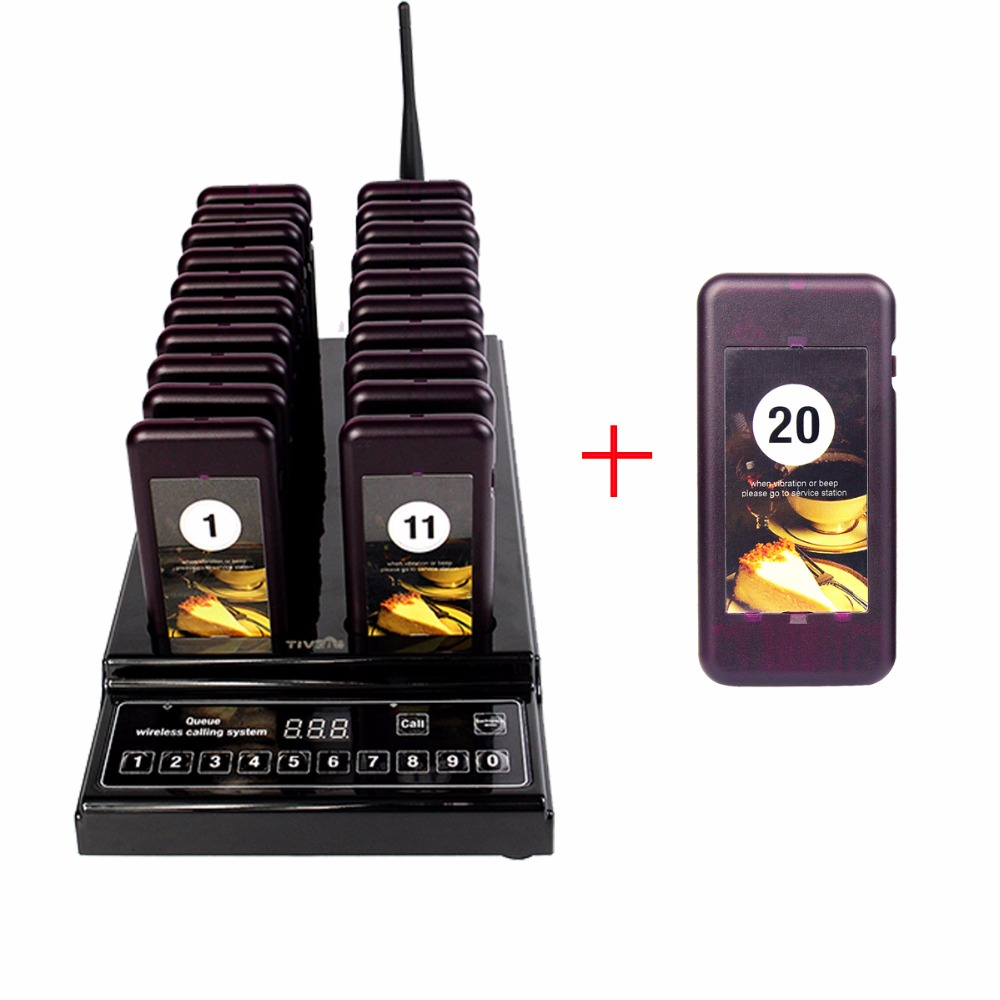 Pager Wireless Paging Queuing System Call Button 21 Call Coaster Pagers Restaurant Equipments 999 Channel F9402A wireless call bell system quick service restaurant pager equipment ycall brand 433 92mhz 1 display 8 call button