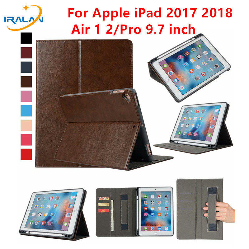 With Pencil Holder for iPad 5 6 Air 1 2 Pro 9.7 inch Premium Leather Smart Cover for Apple iPad 9.7 2018 2017 Case +Free Film-in Tablets & e-Books Case from Computer & Office on AliExpress - 11.11_Double 11_Singles' Day 1
