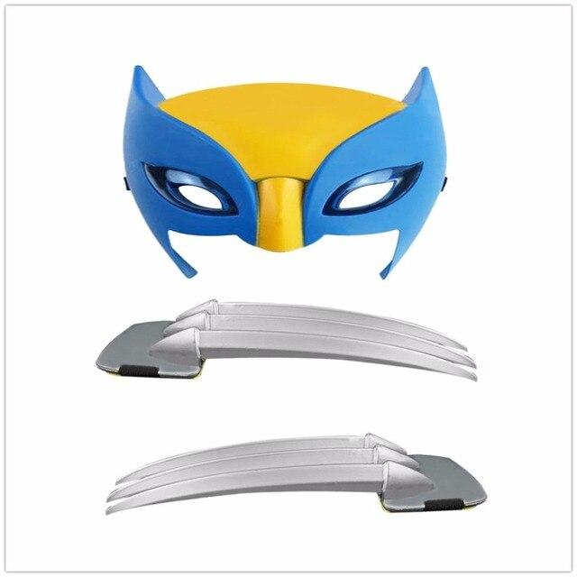 OCDAY X-men Wolverine claws Anime 25 centímetros ABS Action Figure Brinquedos Armas Longas Garras Superhero Máscara Cosplay Para presentes do dia das bruxas