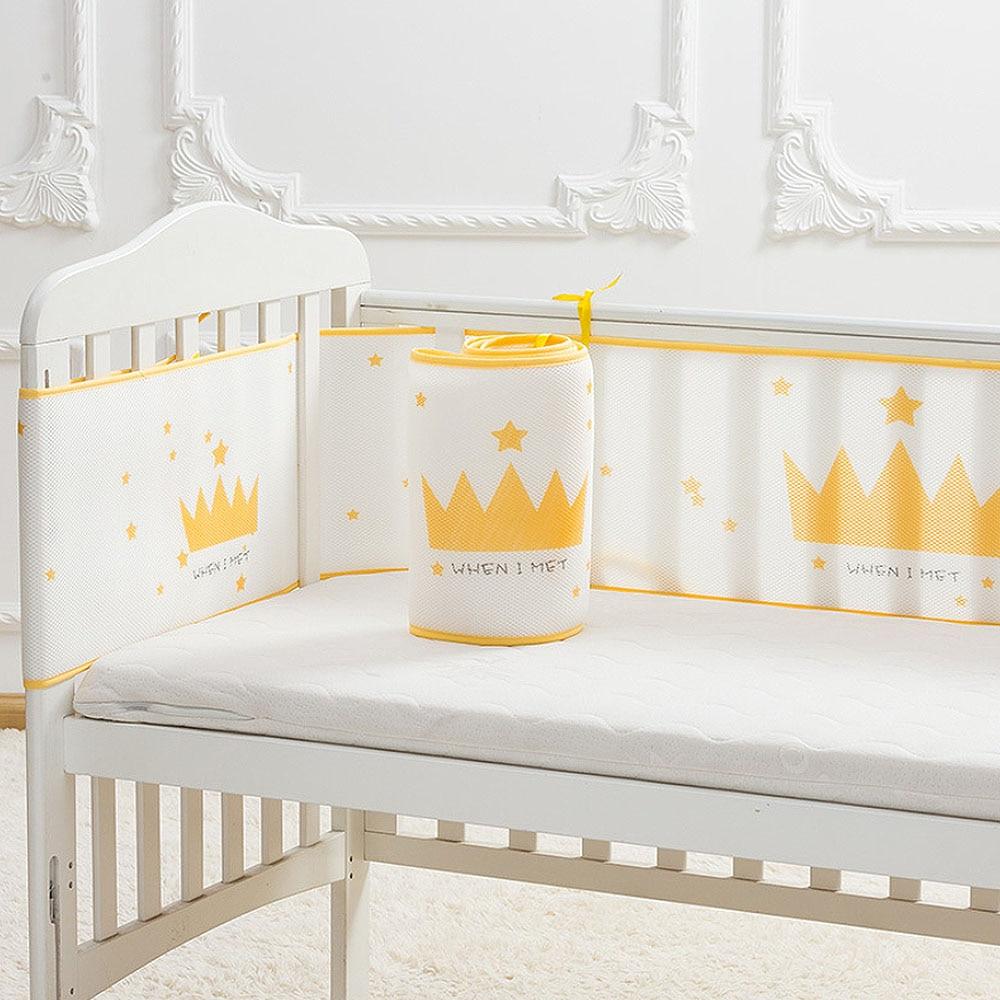 Crib Enclosure Summer Breathable Universal 3D Sandwich Mesh Baby Bed Enclosure Crib Guardrail