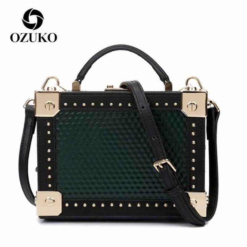 Ozuko Mewah Genuine Leather Messenger Tas untuk Wanita 2018 Tas Wanita Shoulder Bag Bolsa Feminina