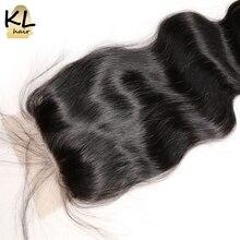 KL Hair Free Part Silk Base Closure Body Wave Human Hair Brazilian Remy Hair 4×4 Silk Closure Bleached Knots With Baby Hair