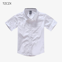 Tzczx-2530 solik del muchacho de los niños 100% algodón de manga corta  Camisas b870a4943e46d