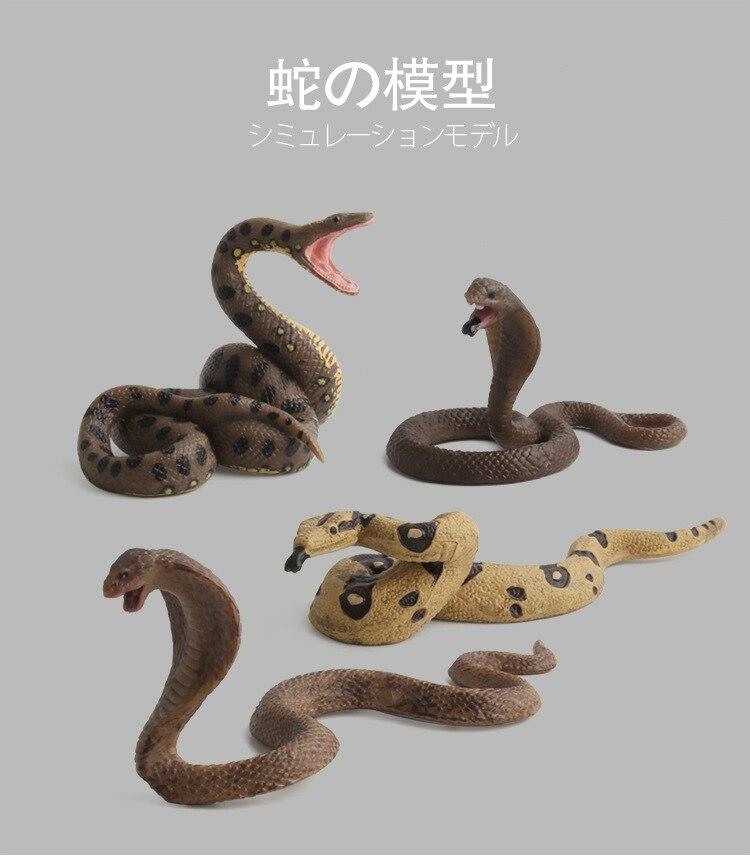 Spoof-Toys Snake-Model Children's-Toys Wild-Animal-Models Gifts