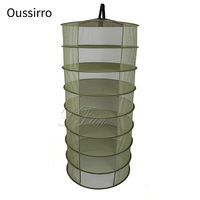 60cm ring heavy duty hanging net drying frame 8 layers of plant flower herb drying basket drying basket