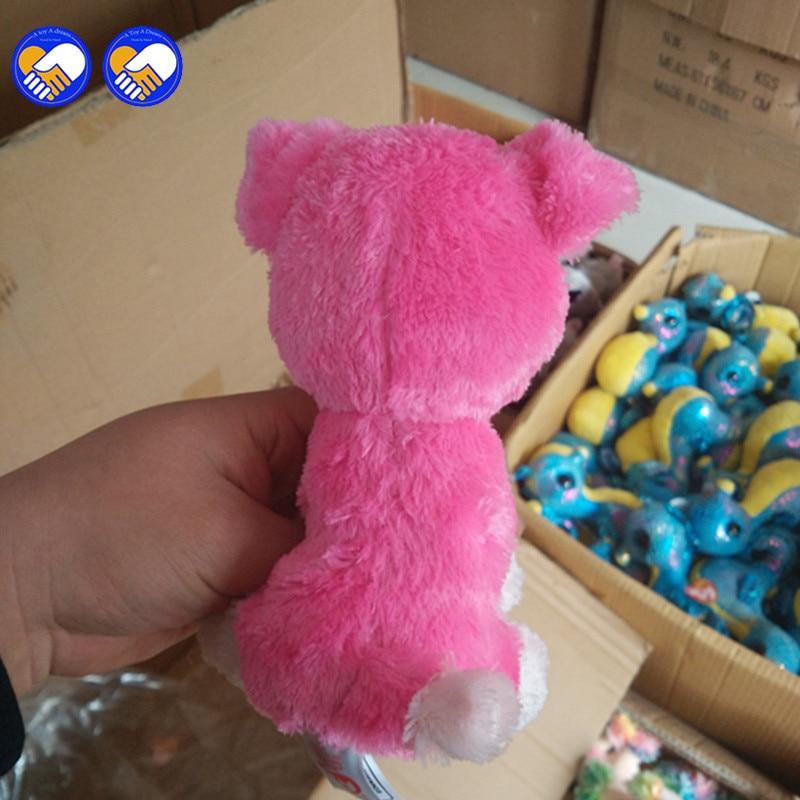 Игрушка мечта Ty Beanie Боос розовый Шнауцер 6 дюймов большой Средства ухода для век Берет Детские плюшевые игрушки куклы Коллекционные мягкие ...