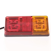 1pcs 16 Led Double Color Trailer Tail Lights Indicator Turn Signal Light Car Van Lamp E