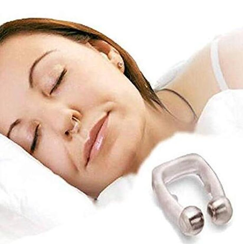 1ps Silicone Magnet Nose Clip Stop Snoring Anti Snore Device Sleeping Aid Apnea Guard Night  Drop Shipping Squeeze Toys