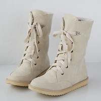 New Fashion Style Female Flat Wedding Sexy Leather Ladies Snow Boots For Women And Women S