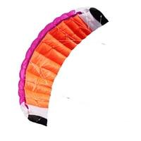 Profession 2m Cloud Nylon Dual Line Parafoil Kite With Control Bar Line Power Braid Sailing Kitesurf Rainbow Sports Beach
