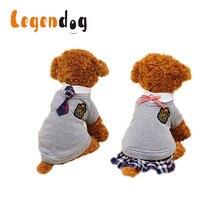 Legendog модные Британский Стиль Lover Pet одежда милый элегантный дизайн собака одежды Pet Одежда кампус Платья для женщин для домашних животных для Товары для собак