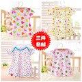 10pcs/lot free shipping  Summer Cute t-shirt Baby Girl shirts 100% cotton flowers patterns dress for 0-24 months TST0010