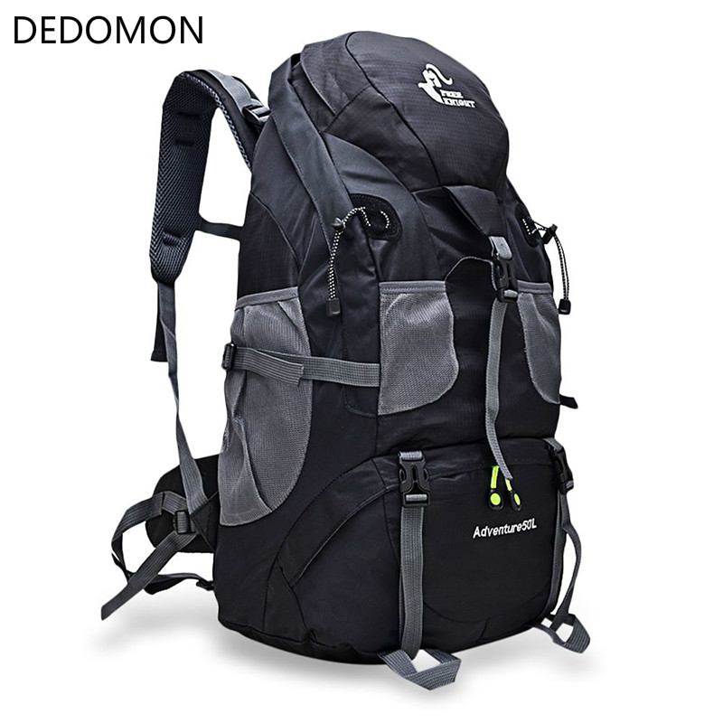 50L Waterproof Outdoor Climbing Backpack Camping Hiking Softback Rucksack Mountaineering Molle Travel Cycling Jogging Sport Bags waterproof travel hiking backpack 50l sports bag for women men outdoor camping climbing bag mountaineering rucksack
