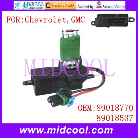New Blower Motor Resistor use OE NO. 89018770 , 89018537 for Chevrolet GMC