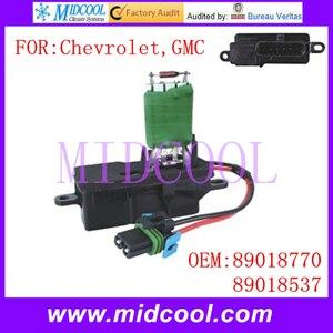 Novo uso Resistor Do Motor Do Ventilador OE NO. 89018770  89018537 para Chevrolet GMC|blower repair|motor 1kw|blower motor -