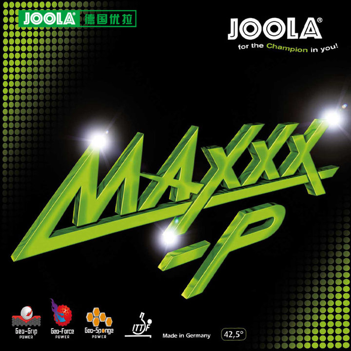 Joola MAXXX-P (Speed & Spin, for 40+) MAXXX -P Pips-in Table Tennis Rubber Ping Pong Sponge Tenis De Mesa