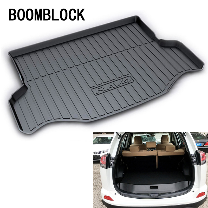 BOOMBLOCK For Toyota RAV4 2018 2017 2016 Waterproof Anti-slip Car Trunk Mat Tray Floor Carpet Pad Protector Auto Accessories boomblock for infiniti q50 q50l waterproof anti slip car trunk mat tray floor carpet pad protector auto accessories
