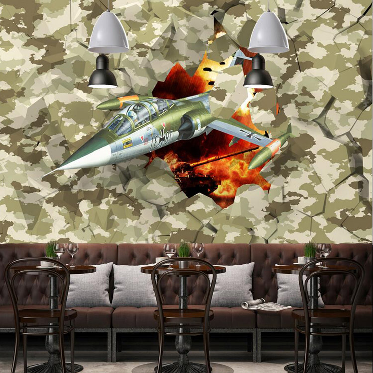 Free Shipping Restaurant 3D military desert camouflage wallpaper bar KTV game hall aircraft wallpaper mural  free shipping european wine cellar wallpaper ktv bar restaurant industry lounge hall decoration beer cup wallpaper mural