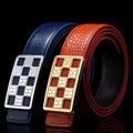 [Himunu] Cinturón Cinturones de Diseño Hombres de Negocios de Alta Calidad de Grabación En Relieve de Lujo Del Grano Del Cocodrilo de Cuero Liso Cinturón de Cinturones de Ocio Los Hombres