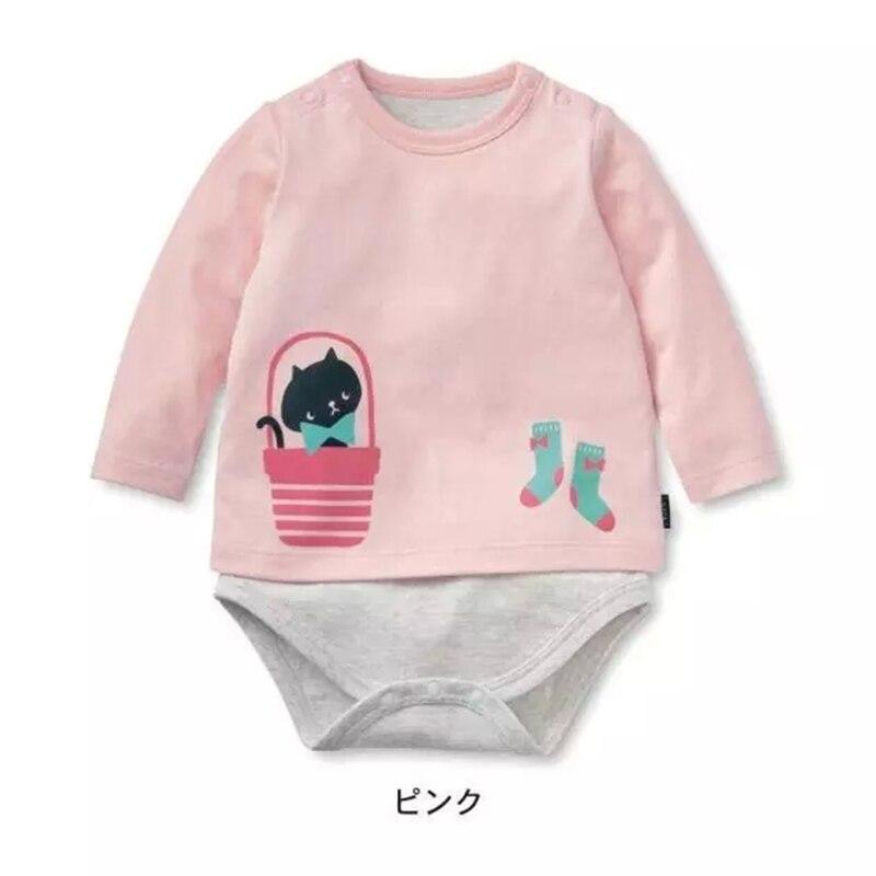 Baby Romper Langærmet Sød tøj Baby pige Et stykke Jumpsuits Roupas De Bebe Infantil Babytøj 1stk HB013