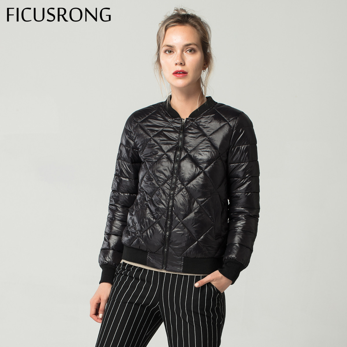 Fashion Soft Warm Autumn Winter Jacket Women Down   Parkas   Cotton Padded Jacket Girls Slim Female Jacket Coat FICUSRONG 2018 New