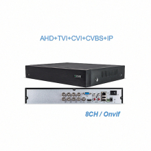 H.265 8Ch CCTV Hvr Hybrid DVR 4K Onvif 8Mp 1080p VGA HDMI XVR For AHD CVBS TVI CVI IP Camera 3G/4G modems Cctv Video Recorders