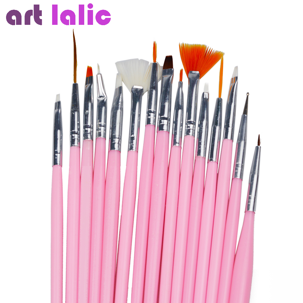 15Pcs/Set Nail Art Brush Drawing Paint Brushes Set Acrylic