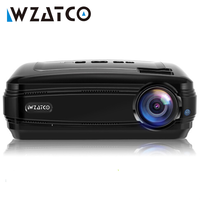 WZATCO CTL60 Android 9 0 WIFI 5500Lumens full HD Portable TV LED Projector 1080P 4K Video