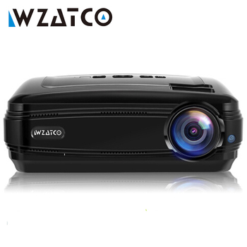 WZATCO CTL60 Android 9,0 WIFI 5500Lumens full HD TV portátil proyector LED 1080P 4K Video juego HDMI beamer LCD para cine en casa