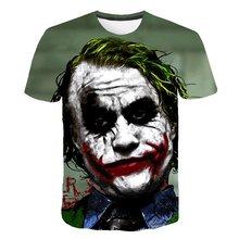 14f9ccca8f El caballero oscuro 3D T camisa hombres Joker cara Casual o-Cuello Camiseta  de manga corta de payaso Cosplay T camisas de Pokemo.