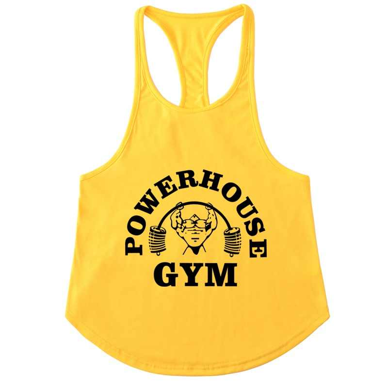 c71a891b9004fd 2018 NEW fashion Singlets gyms Mens Tank Tops Bodybuilding POWERHOUSE  Fitness Men s Golds Stringer Tank Top