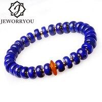 8mm Lapis Lazuli Clip Amber 925 Zilveren Armbanden Voor Vrouwen Boeddha Armband Natuursteen Armband Paar Lover