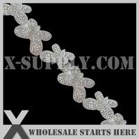 dhl gratis verzending kristal strass applique kralen trim voor bruids accessoires/groothandel decoratie