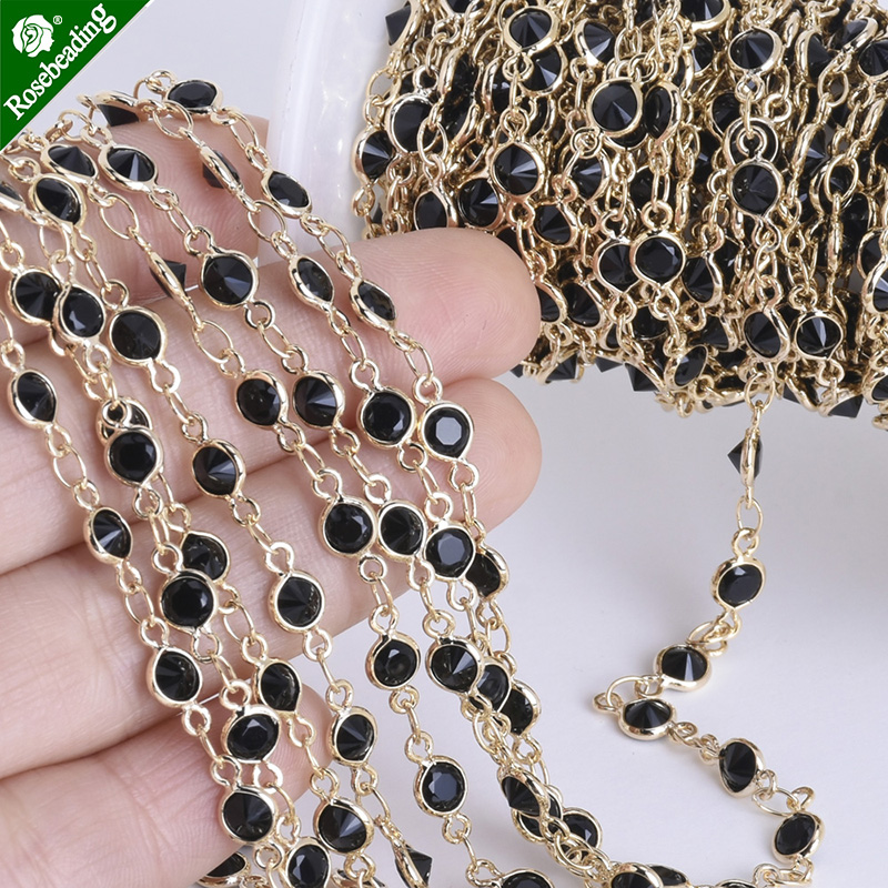 1 foot 4mm High quality gold plated Delicate Bezel Set Crystal & Brass Chain,Connector Chain,sold 1pc/lot 5pcs 2 4mm rose gold plated ball beads chain necklace bead connector 65cm 25 5 inch z1 21