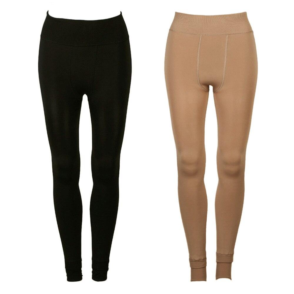 New Fashion 2 Colors Super Soft Nylon Thicken Warm Leggings Casual High Elastic Thicken Ultra Warm Pants Leggings